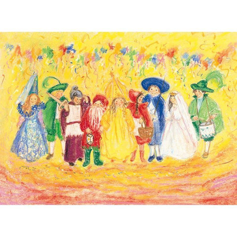 children's carnival postcard