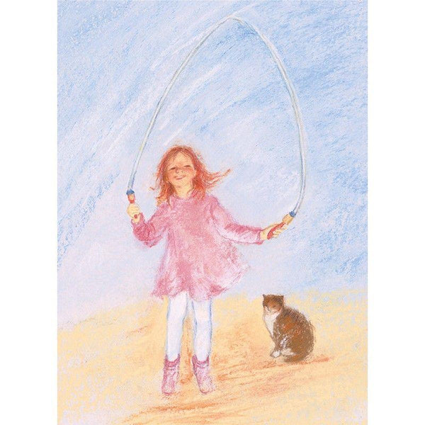 Skipping rope postcard