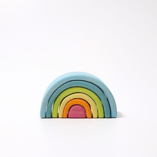 Grimm's small pastel rainbow stacker
