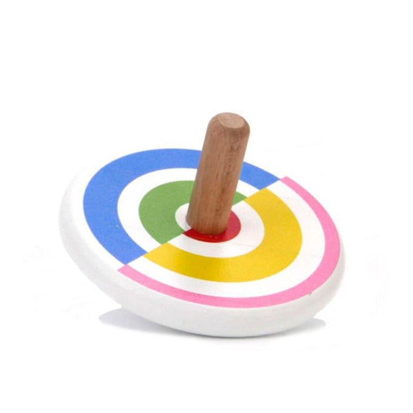 Semi-circles' coloured spinning top
