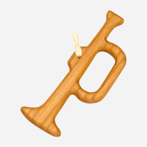 Trumpet wooden ornament