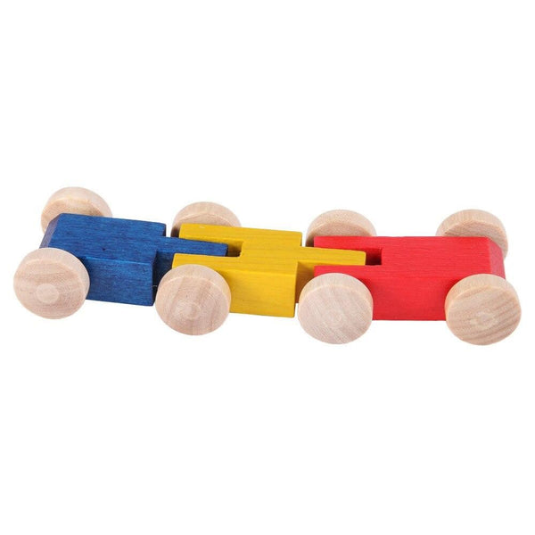 centipede of 3 wooden cars