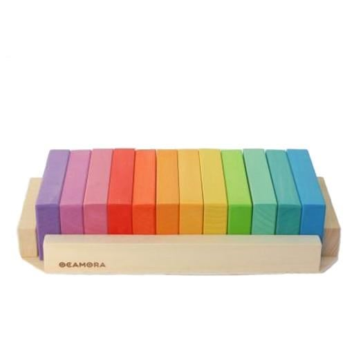 Ocamora 12 small wooden tablets, coloured