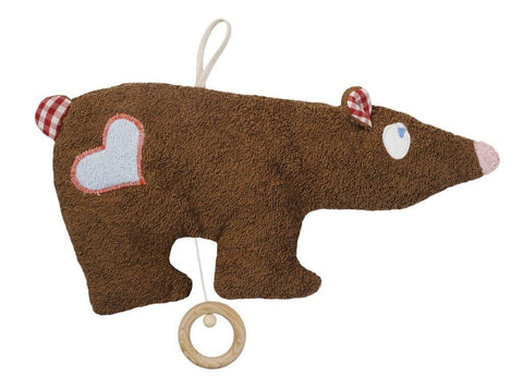 organic cotton musical brown bear lullaby toy