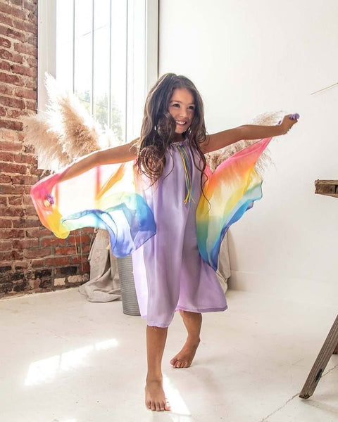 silk fairy dress with wings