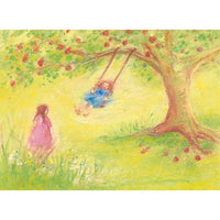 Swinging under the Apple Tree postcard