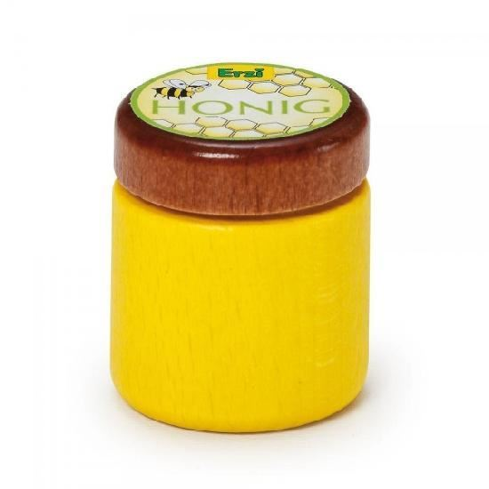 honey jar wooden toy play food