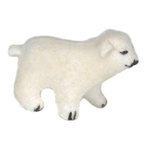 Glueckskaefer wool felt polar bear