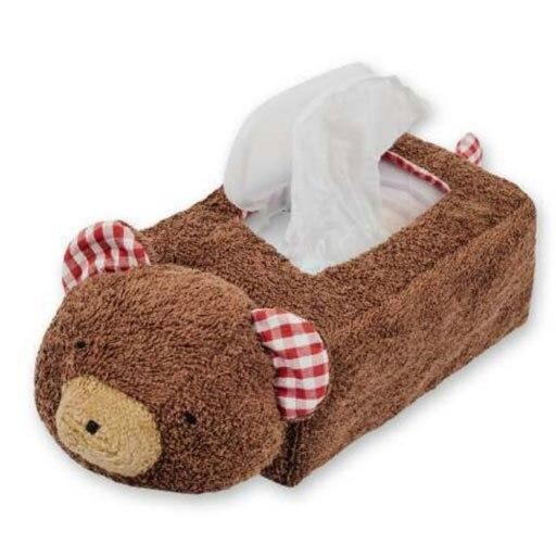 organic teddy bear tissue holder