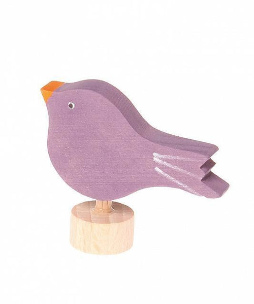 sitting bird ornament