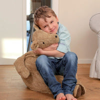 organic cotton & spelt bear bean bag chair
