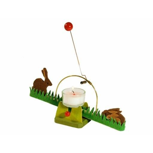 Easter Rocking Rabbits candle see-saw