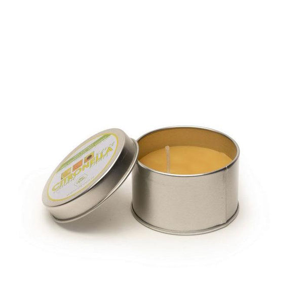 Dipam Citronella candle in a tin