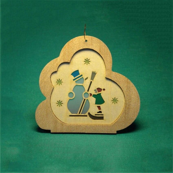 Cloud with Snowman tree ornament