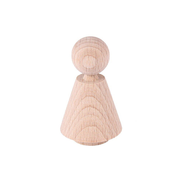 wooden figure, bevel shape