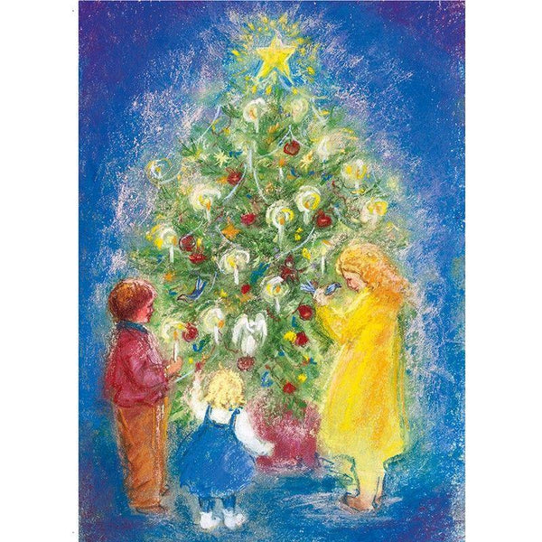 Around the Christmas Tree postcard by M. v. Zeyl