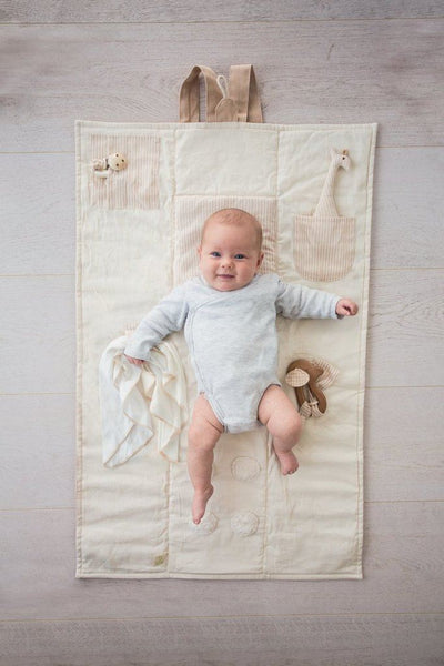 organic cotton 'Cozy Nap' baby playmat/ nap mat