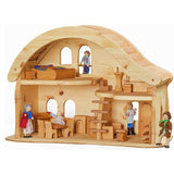 dollhouse with curved roof