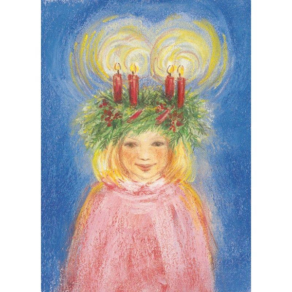 Lucia's Light Crown postcard by M. v. Zeyl