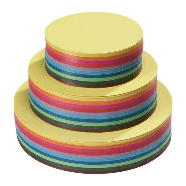 Round paper, 500 sheets assorted lightweight