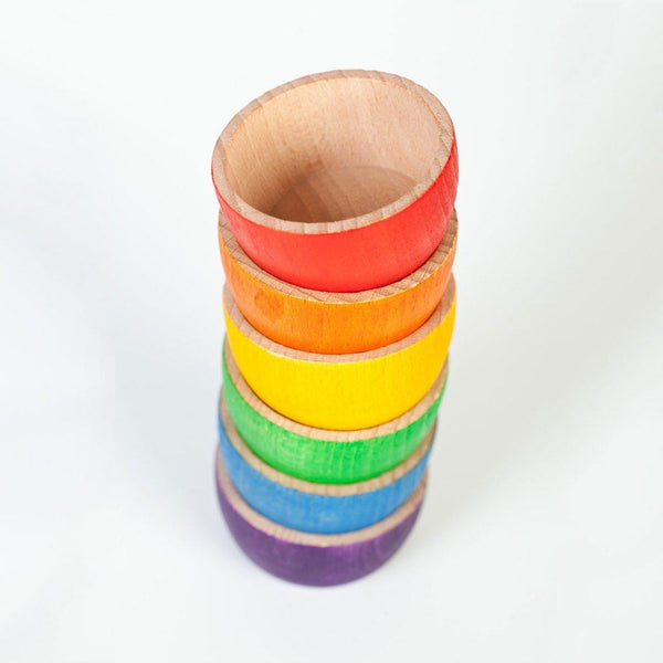 Grapat Wood Coloured Bowls, 6 pc (6 colours)