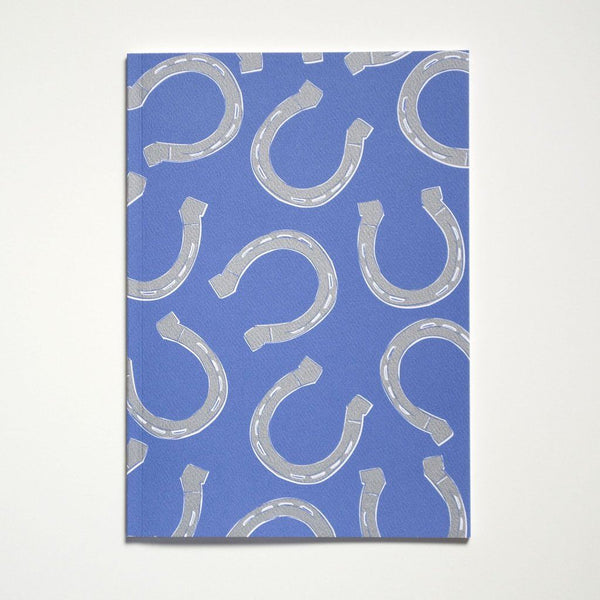 horseshoes notebook, with blank pages