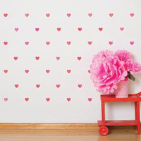 Petit Hearts wall decals