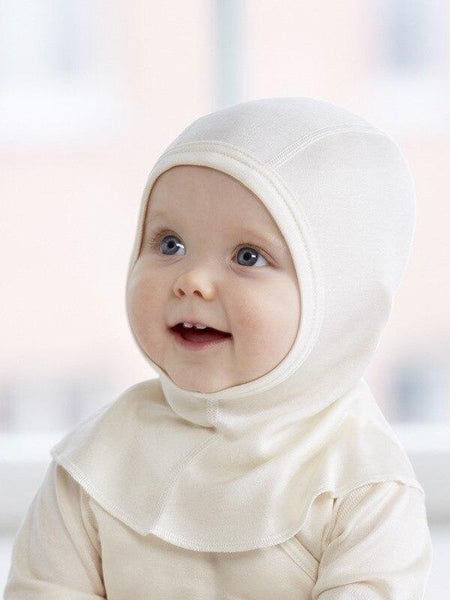 pure silk baby balaclava bonnet (special order)