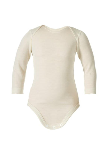 organic merino wool long-sleeved bodysuit