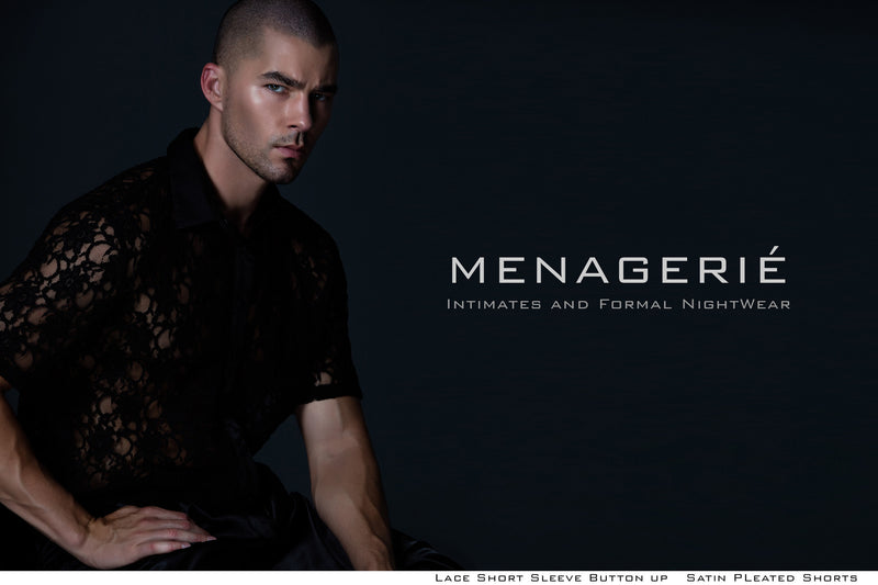 Menagerié Intimates LookBook Featuring Cody Callahan Shot by Grayson Wilder Grooming by Celina Rodriguez