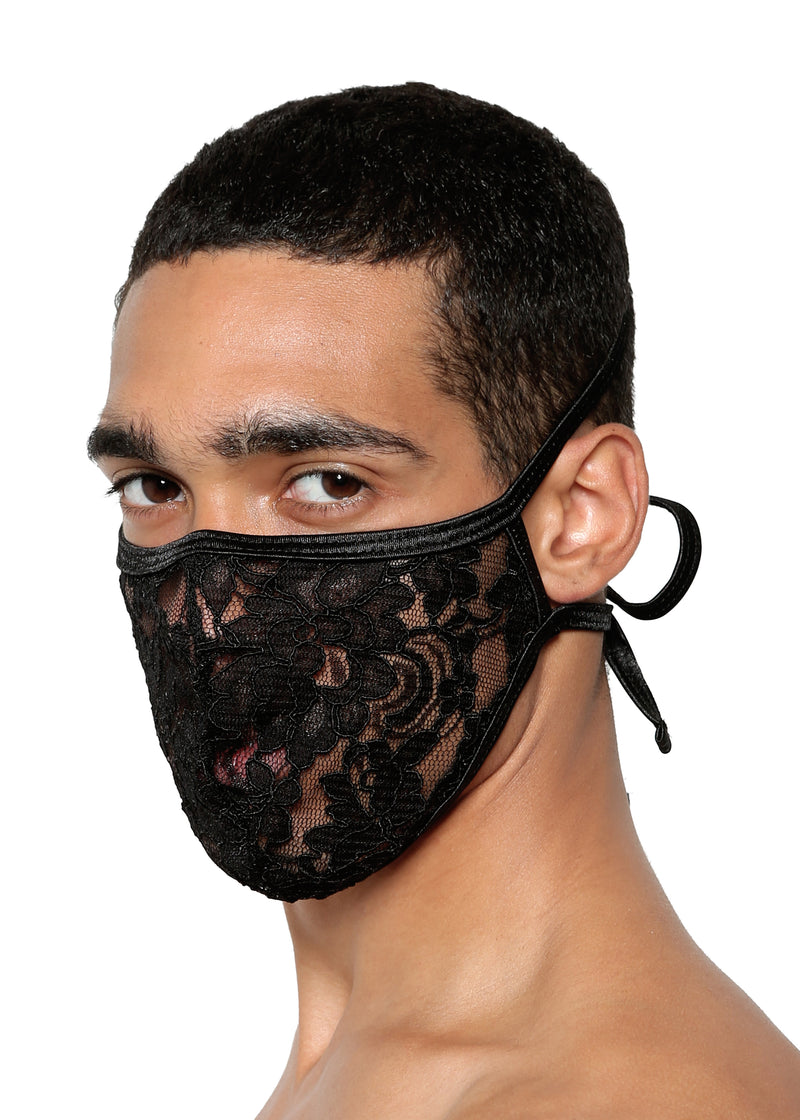 FACE MASK in LACE - MENAGERIE Intimates MENS Lingerie