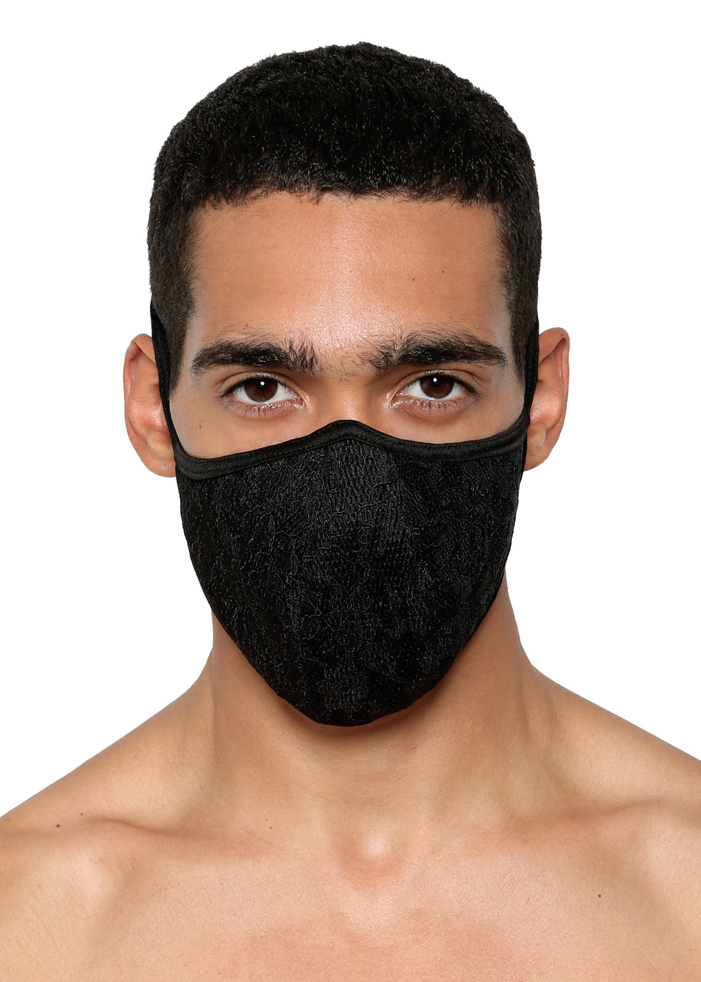 FACE MASK in NEOPRENE LACE - MENAGERIE Intimates MENS Lingerie