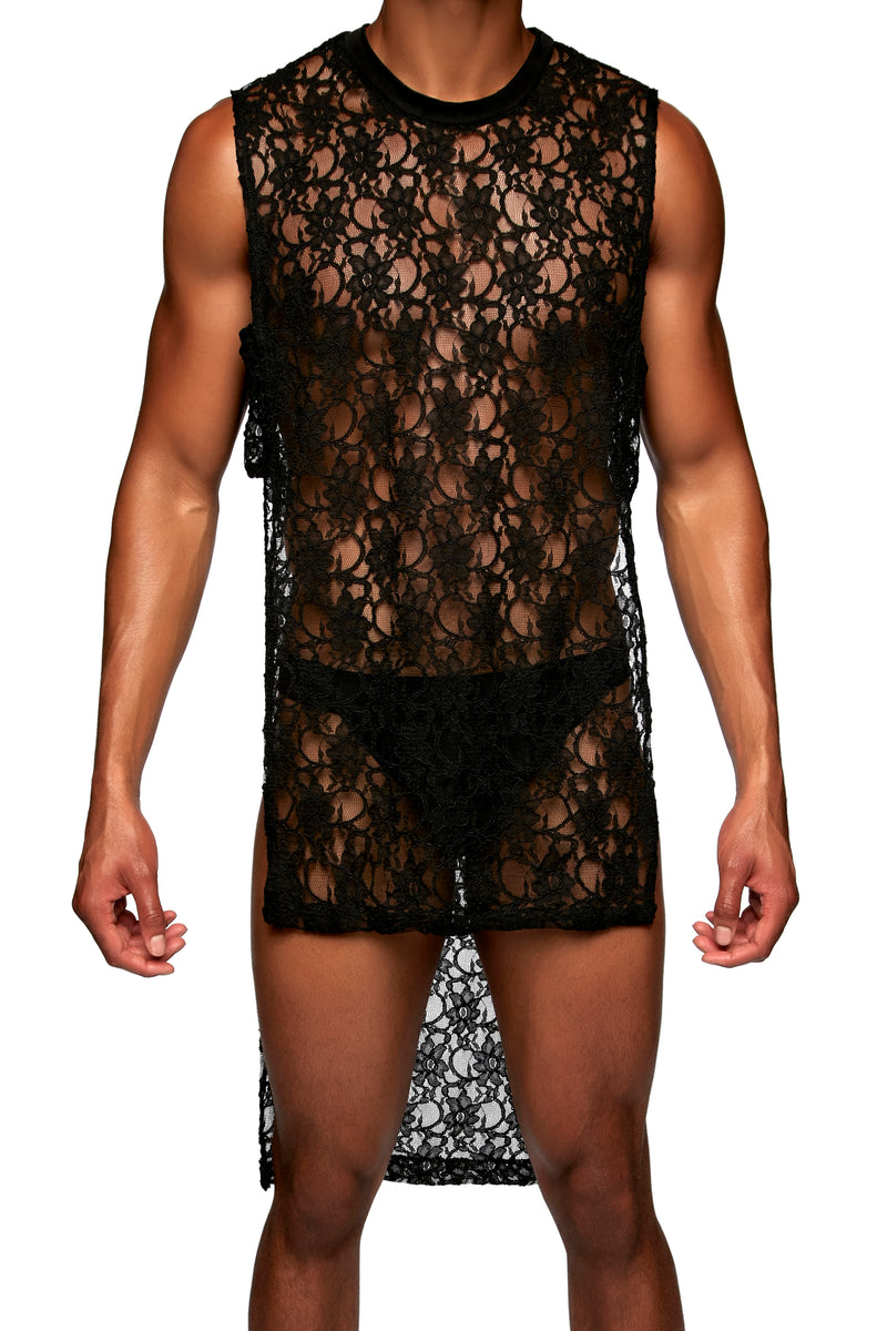 PANEL SHIRT in LACE - MENAGERIE Intimates MENS Lingerie