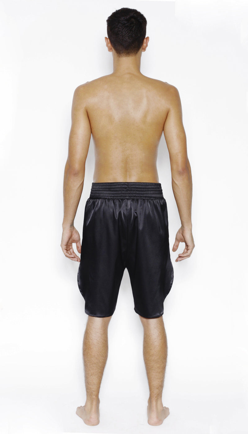 SPORTS SHORT in SATIN - MENAGERIE Intimates MENS Lingerie