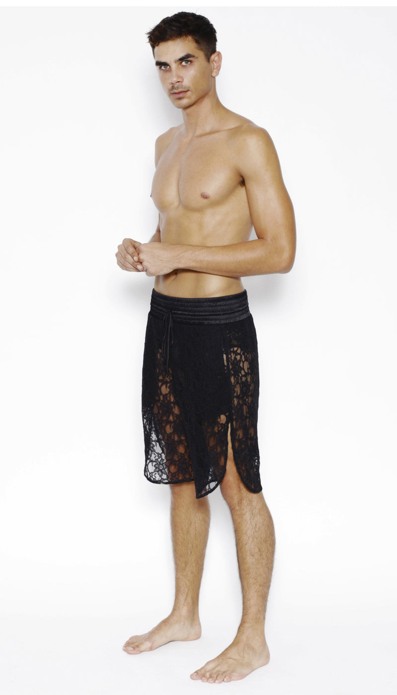 SPORTS SHORT in LACE - MENAGERIE Intimates MENS Lingerie