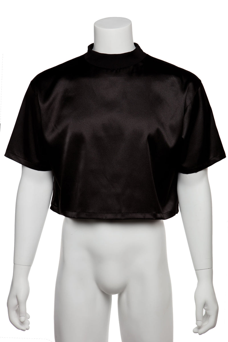 Cropped T-shirt - SATIN - MENAGERIÉ Intimates