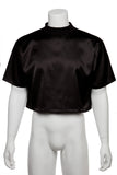 Cropped T-shirt - SATIN