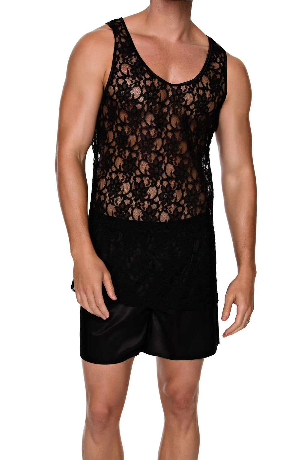 TANK in LACE - MENAGERIE Intimates MENS Lingerie