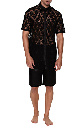 Button Up Shirt - Short Sleeve  (LACE)