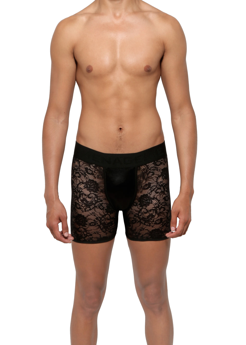 BOXER BRIEF in LACE SPANDEX - MENAGERIE Intimates MENS Lingerie