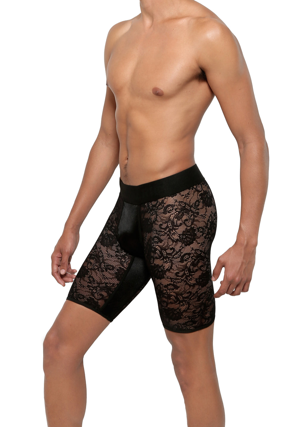 CYCLE SHORT in LACE SPANDEX - MENAGERIE Intimates MENS Lingerie