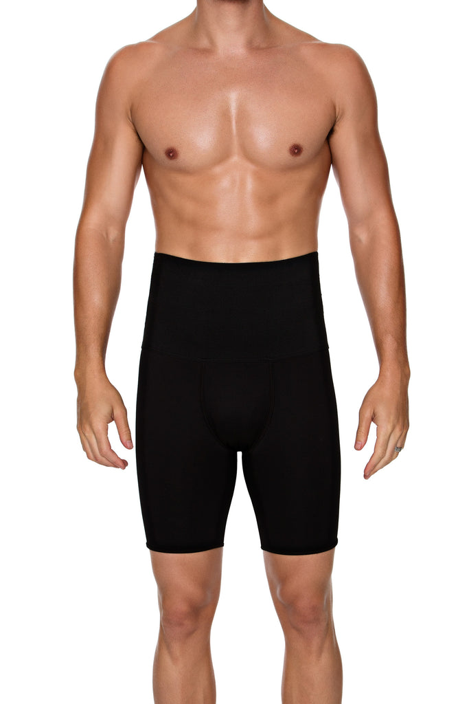 High Waist Control Boxer Brief - BLACK
