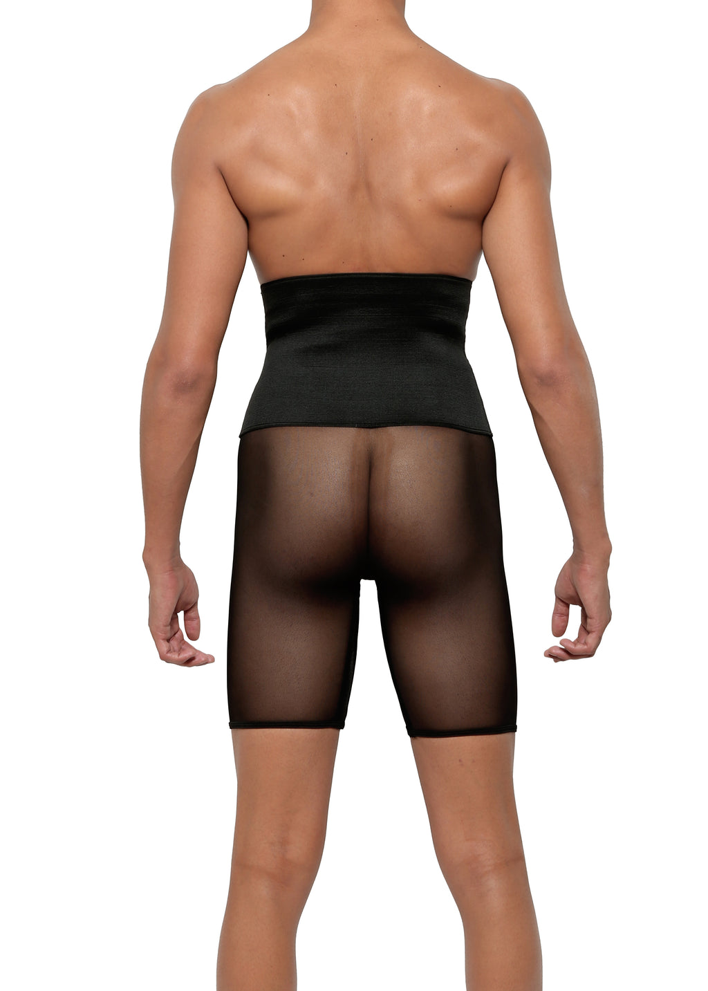 HIGH WAIST CONTROL BRIEF in MICRO-MESH - MENAGERIE Intimates MENS Lingerie