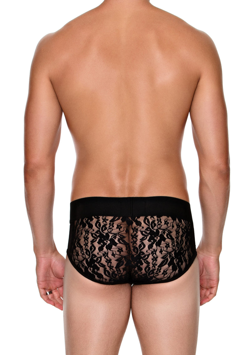 Low Rise Brief with LACE BACK - MENAGERIE Intimates MENS Lingerie