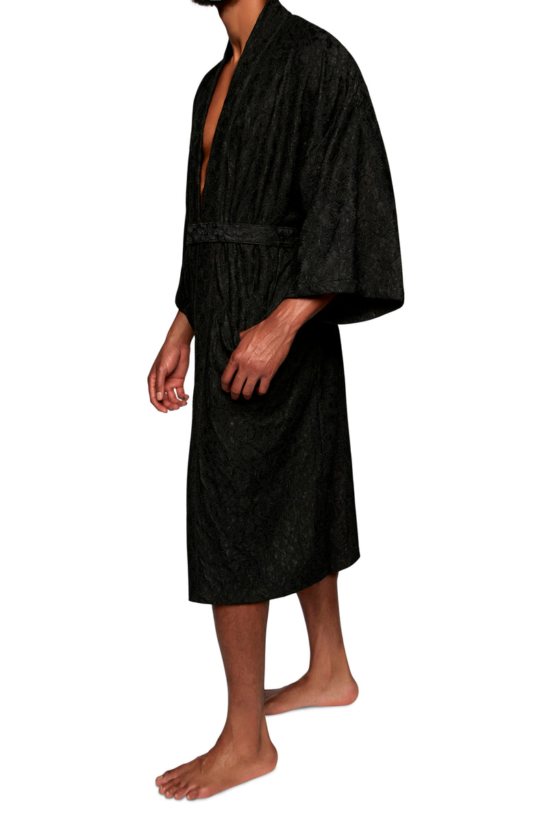 FULL LENGTH ROBE in LACE KNIT - MENAGERIÉ Intimates