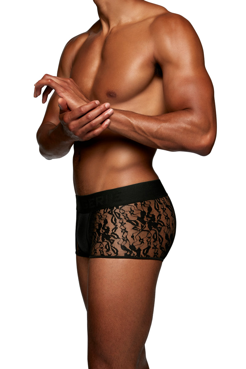 LOW RISE TRUNK in LACE SPANDEX - MENAGERIÉ Intimates