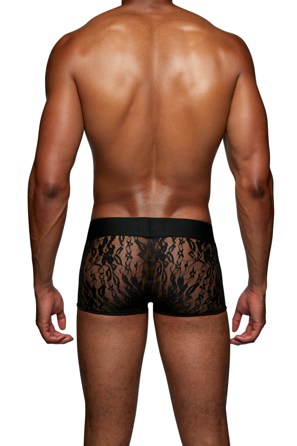 LOW RISE TRUNK in LACE SPANDEX - MENAGERIE Intimates MENS Lingerie