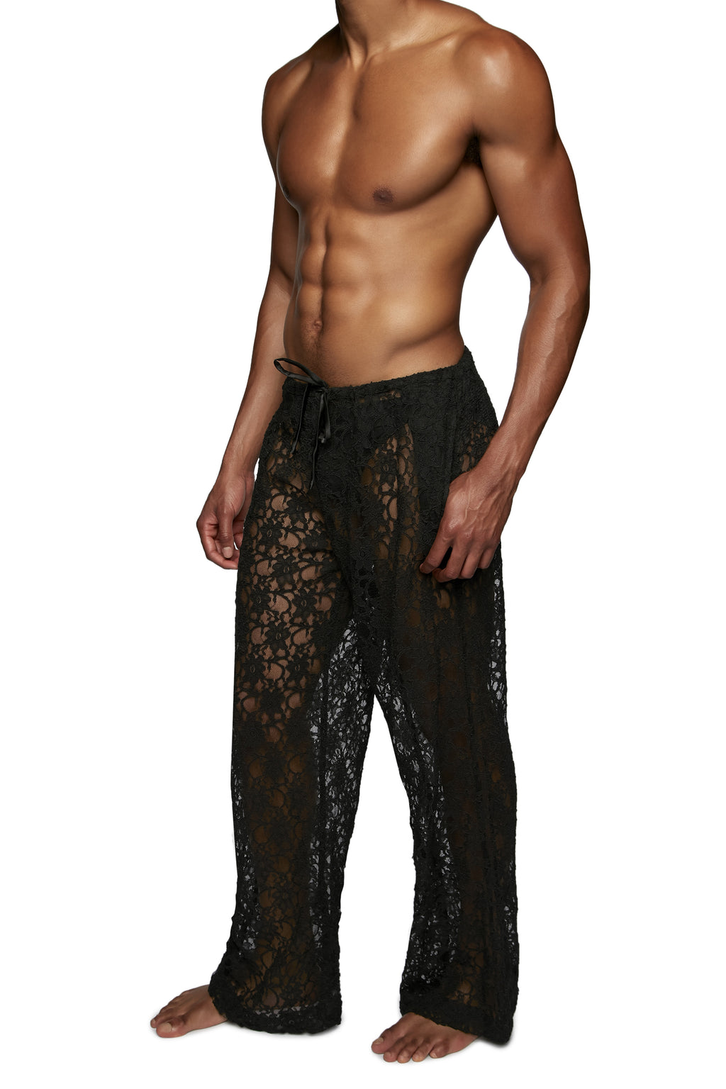 DRAWSTRING PANT in LACE - MENAGERIE Intimates MENS Lingerie