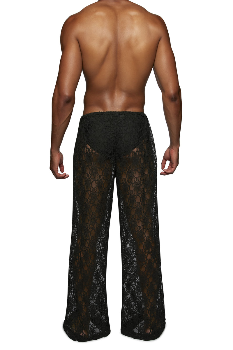 Copy of Wide Leg Drawstring Pant (LACE)