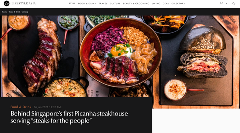 """Behind Singapore's first Picanha steakhouse serving """"steaks for the people"""""""